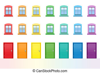 Colorful Doors And Windows House
