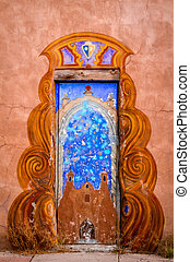 Colorful Doors of Santa Fe, NM - Colorful southwestern...