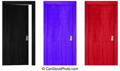 doors - colorful doors open