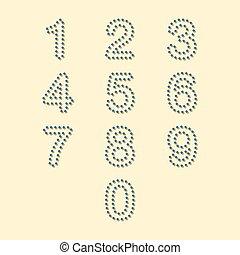 colorful dot number set