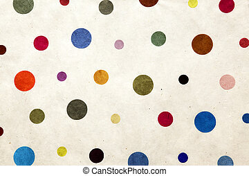 colorful dots - textile wallpaper with random sized dots
