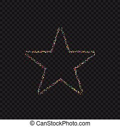 Colorful Dotted star shape - Colorful confetti star shape....