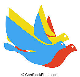 Colorful dove - Creative design of colorful dove