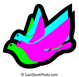 Colorful dove