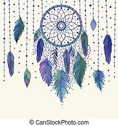 5e1cb810dd704 Aztec style feathers symbolizing native american culture o colorful ...