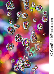 Colorful drops of rain
