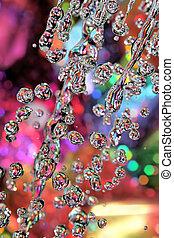 Colorful drops of rain