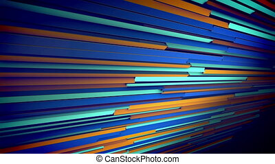 """Colorful Dynamic Jalousie Placed Aslant"" - ""An arty 3d..."