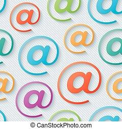 Colorful e-mail wallpaper.