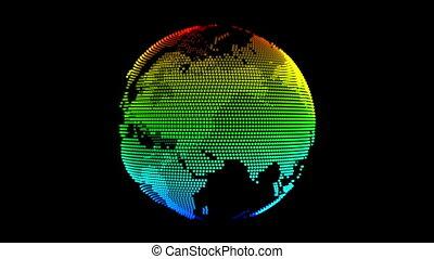 colorful Earth model rotating loop