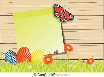 colorful Easter background - colorful funny and sweet Easter...