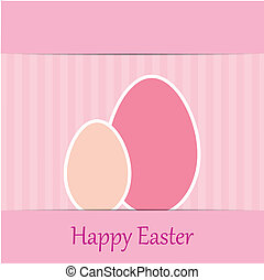 colorful easter card with tree eggs