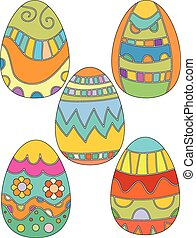 Easter Egg Collection with Flowers