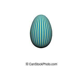 Colorful Easter egg in a row isolated on white - 3d rendering