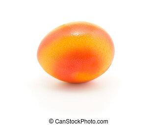 Colorful Easter egg isolated in white background