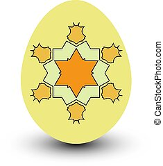 Colorful easter egg on white background