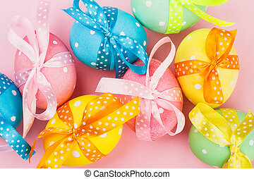 Easter eggs with decoration