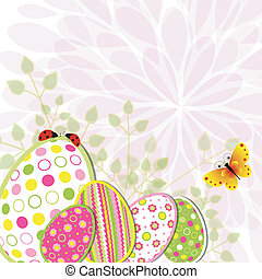 Colorful Easter holiday illustration