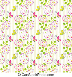Colorful Easter holiday seamless pattern