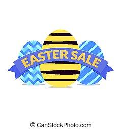 Colorful easter sale banner design