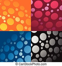 Colorful element abstract background set (set of more graphics)