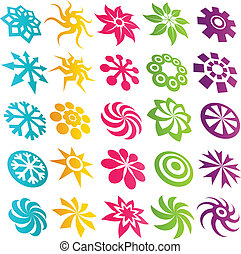 Colorful Element Logo Icons