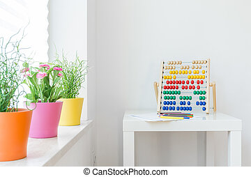 Colorful elements in child room