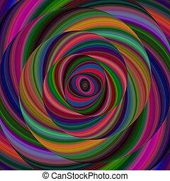 Colorful ellipse fractal spiral design background