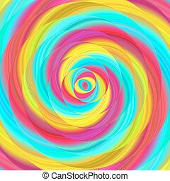 Colorful ellipse fractal spiral design background
