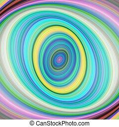 Colorful elliptical digital fractal art background