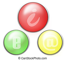 Colorful email buttons