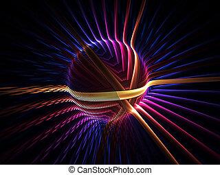 colorful energy globe