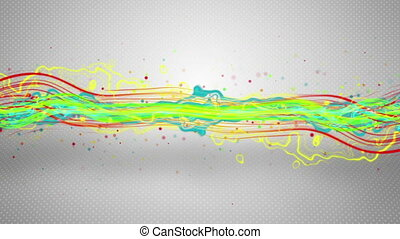 colorful energy waves loopable animation