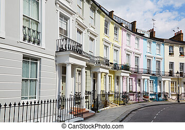 Colorful English houses in London - Colorful London houses...