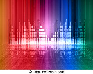 Colorful equalizer background