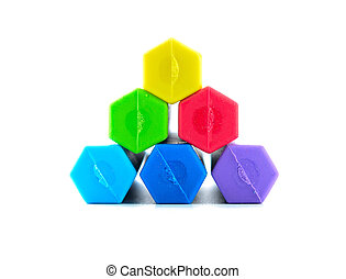 colorful eraser on white background