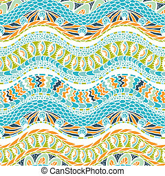 Colorful ethnicity ornament, vector seamless pattern.