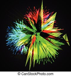 Colorful explodes/flowers, vector illustration