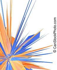colorful explosion - 3d rendered illustration of an abstract...