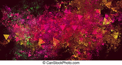 Colorful Explosion Grunge Abstract Background