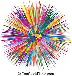 Colorful Explosion - Sign for creativity and spontaneity in...