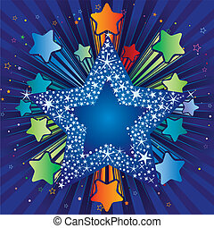 colorful explosion star
