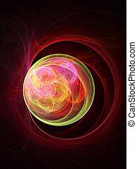 colorful eye ball