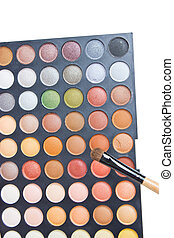 Colorful Eye Shadow Make Up Palette With Brush.