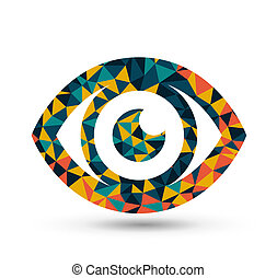 Colorful eye triangle pattern design