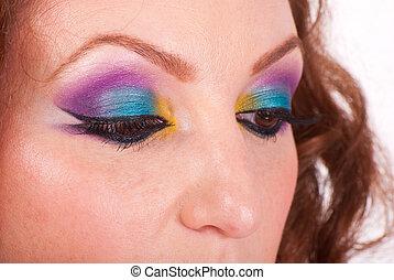 Colorful eyes make up