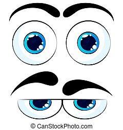 Colorful Eyes. Vector Isolated illustration on white background