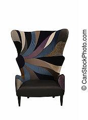 colorful fabric sofa isolated