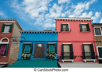 Colorful facades, Burano island