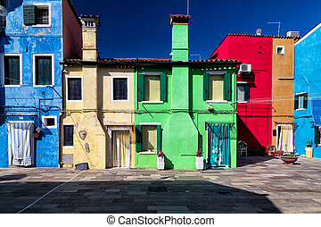 Colorful Facades in Burano, Venice
